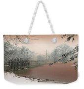 Mill Pond Snow Weekender Tote Bag