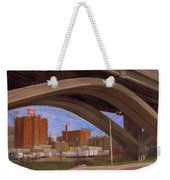Miller Brewery Viewed Under Bridge Weekender Tote Bag