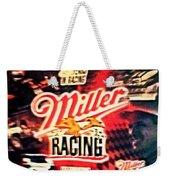 Miller Racing Sign 25th Year Weekender Tote Bag