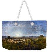 Millet: Sheep By Moonlight Weekender Tote Bag