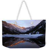 Spring Sunset At Mill's Lake In Rocky Mountain National Park, Colorado, Usa Weekender Tote Bag