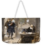 Milton And Galileo, 1638-39 Weekender Tote Bag