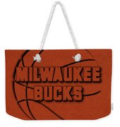 Milwaukee Bucks Leather Art Weekender Tote Bag