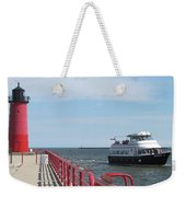 Milwaukee Harbor And Boat Weekender Tote Bag