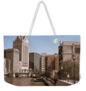 Milwaukee Riverwalk Weekender Tote Bag