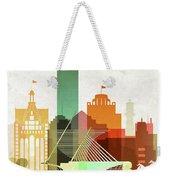 Milwaukee Skyline Color Weekender Tote Bag