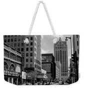 Milwaukee Street Scene B-w Weekender Tote Bag