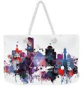 Milwaukee Watercolor Skyline Weekender Tote Bag