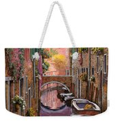 Mimosa Sui Canali Weekender Tote Bag by Guido Borelli