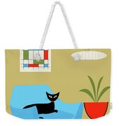 Mini Abstract With Turquoise Chair Weekender Tote Bag