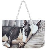 Mini Bulldog Terrier Weekender Tote Bag