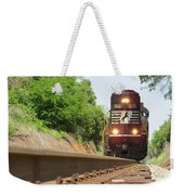 Mini Train Moves Down The Track Weekender Tote Bag