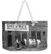 Miniature Golf At Tailor Shop Weekender Tote Bag