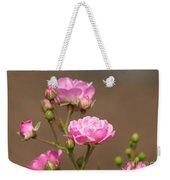 Miniature Pink Roses Weekender Tote Bag