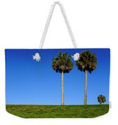 Minimal Palm Trees On A Hill In Saint Augustine Florida Weekender Tote Bag