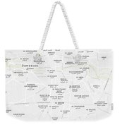 Minimalist Modern Map Of Downtown Damascus, Syria 2 Weekender Tote Bag