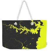 Minimalist Modern Map Of Sydney, Australia 8 Weekender Tote Bag by Celestial Images