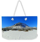 Mining Ruins Foreground A Snowy Mountain Weekender Tote Bag