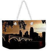 Minneapolis Skyline In Copper Weekender Tote Bag