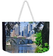 Minneapolis Through The Trees Weekender Tote Bag
