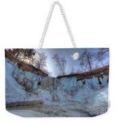 Minnehaha Falls Minneapolis Minnesota Winter Morning Weekender Tote Bag