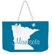 Minnesota In White Weekender Tote Bag