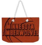 Minnesota Timberwolves Leather Art Weekender Tote Bag