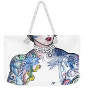 Minnie - An Homage To Maud Wagner, Tattoos  Weekender Tote Bag