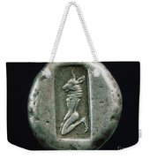 Minotaur On A Greek Coin Weekender Tote Bag