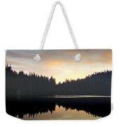 Mirrored Lake Weekender Tote Bag