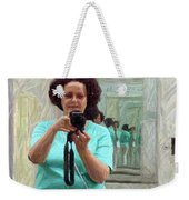 Mirrored Self-portrait Weekender Tote Bag
