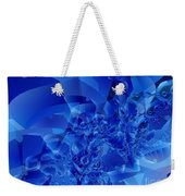 Mirrored Waves In Blue Weekender Tote Bag
