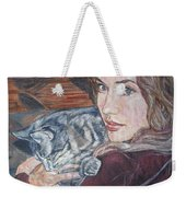 Misha The Cat Woman Weekender Tote Bag