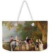 Miss Catherine Herrick With Her Nieces And Nephews Weekender Tote Bag by John E Ferneley