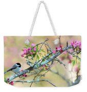 Miss Chickadee Weekender Tote Bag