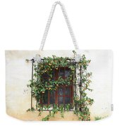 Mission Window With Yellow Flowers Weekender Tote Bag