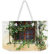 Mission Window With Yellow Flowers Vertical Weekender Tote Bag