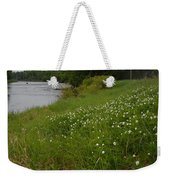 Mississippi River Bank Flowers Weekender Tote Bag