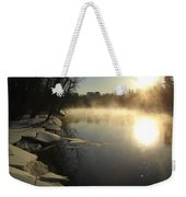 Mississippi River Bank Sunrise Weekender Tote Bag