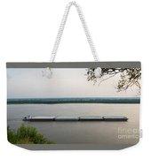 Mississippi River Barge Weekender Tote Bag
