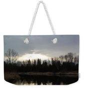 Mississippi River Dawn Clouds Weekender Tote Bag