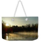 Mississippi River Dawn Light Rays Weekender Tote Bag