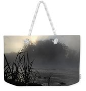Mississippi River Dawn Sun Rays Weekender Tote Bag