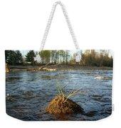 Mississippi River Grass On A Rock Weekender Tote Bag