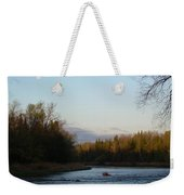 Mississippi River Moon At Dawn Weekender Tote Bag
