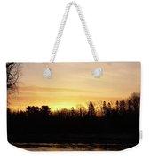 Mississippi River Orange Sky Weekender Tote Bag