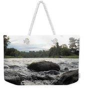 Mississippi River Rocks At Dawn Weekender Tote Bag