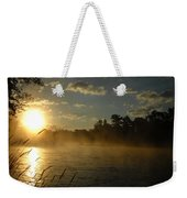 Mississippi River Sunrise Fog Weekender Tote Bag
