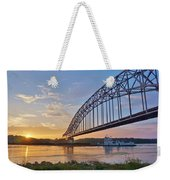 Mississippi Sunrise Crossing Weekender Tote Bag