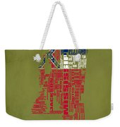 Mississippitypographic Map Weekender Tote Bag